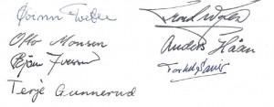 Stiftelsen NJF i 1967 - signaturer