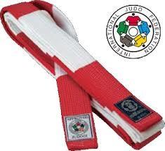 Rødt og hvitt belte