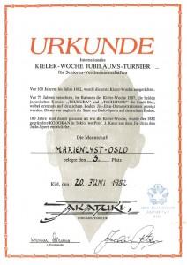 Diplom Kieler Woche - 3-plass MJC 1982