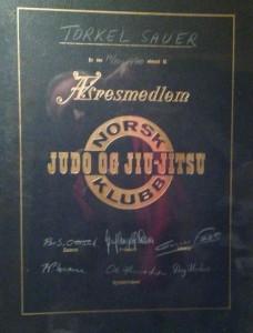 Diplom æresmedlem NJJK 1970 - Torkel Sauer