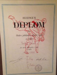 Diplom Hodne - 1985 - Torkel Sauer