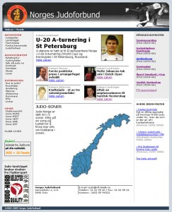 Screenshot av judo.no 17. mars 2006.