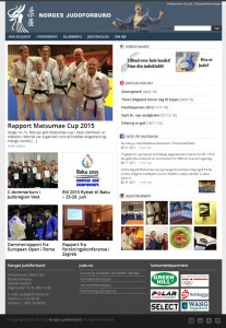 Screenshot av judo.no 25. februar 2015.