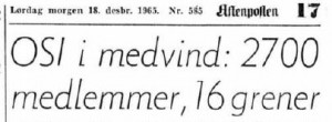 Omtale OSI - 18 desember 1965