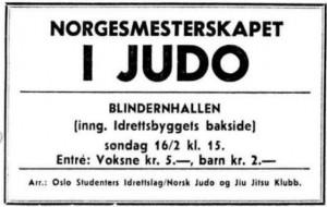 NM judo 1969 - 15 februar 1969