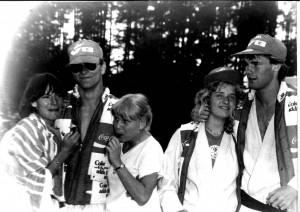 Oppstilt -VG tour 1979 - Kent - Bjørn - Inger Lise