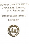 NJF ting referat - 1981-forside