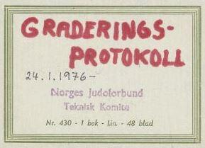 Graderingsprotokoll - 24.januar - 1976 - 94-detalj