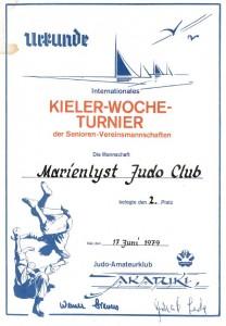 Diplom Kieler Woche - 2-plass MJC 1979
