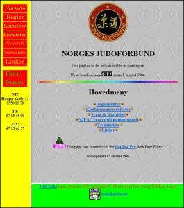 Screenshot av NJFs nettside 27. oktober 1996.