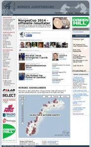 Screenshot av judo.no 20. desember 2014.