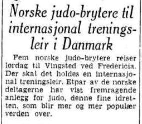 Judobrytere på leir - 3 august 1955